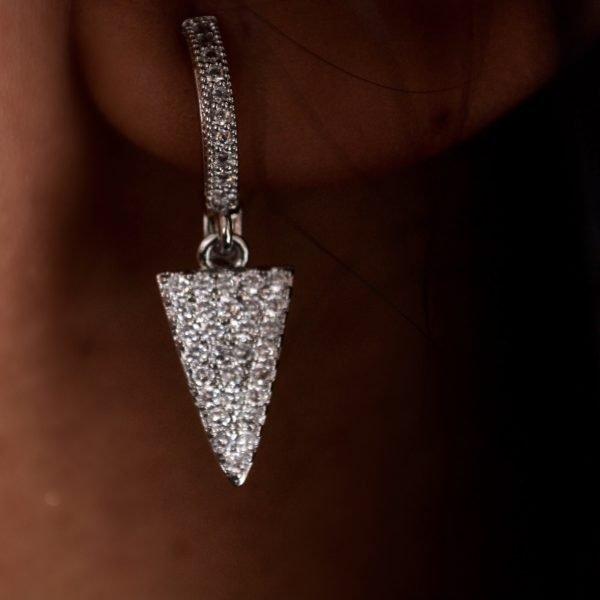 Brigitte Silver Pavé Earring