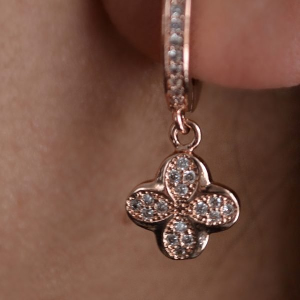 Candida Rose Gold Pavé Earring