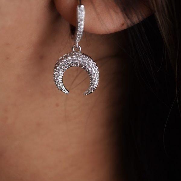 Kiera Silver Pavé Earring