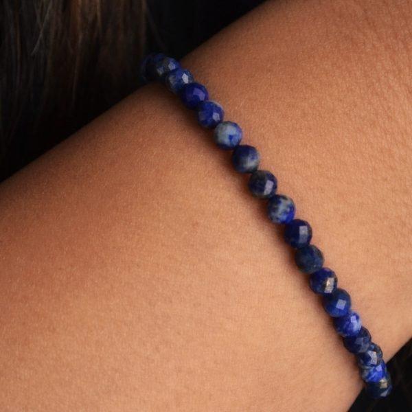 Marvel Bracelet: Intense Faceted Lapis Lazuli Stones