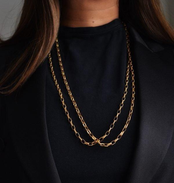 Penelope Necklace: Matte 14K Gold Chain